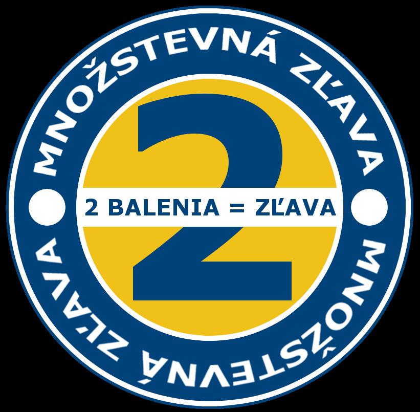 MNOŽSTEVNÁ ZĽAVA - PRI KÚPE 2 BALENÍ UŠETRÍTE SPOLU 4 €