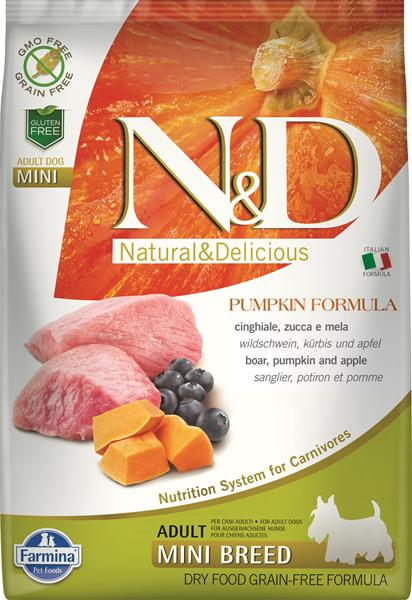 Farmina N&D dog GF PUMPKIN adult mini boar&apple 2,5 kg