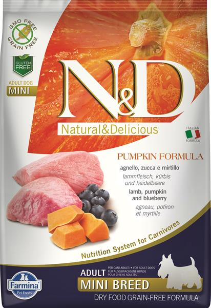 Farmina N&D dog GF PUMPKIN adult mini lamb&blueberry 2,5 kg