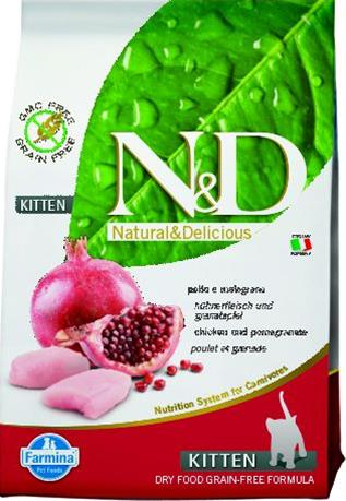 Farmina N&D cat GF kitten chicken&pomegranate 1,5 kg