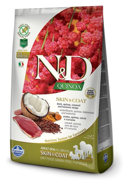 Farmina N&D dog GF QUINOA Skin&Coat Duck 2,5 kg