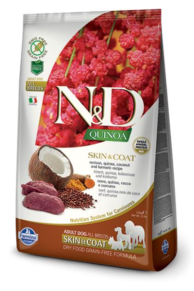 Farmina N&D dog GF QUINOA Skin&Coat Venison 2,5 kg