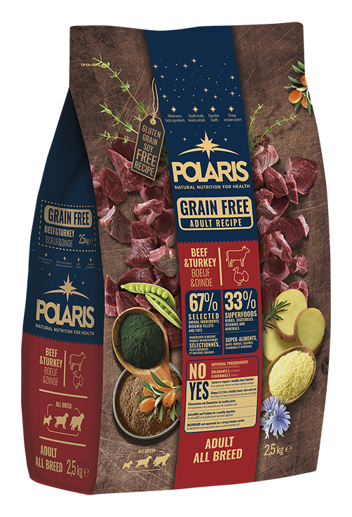 Polaris dog Grain Free Adult All Breed Beef & Turkey 12 kg