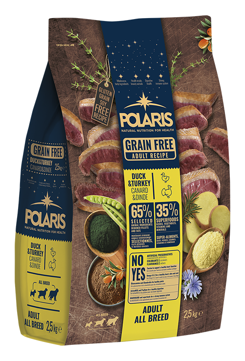 Polaris dog Grain Free Adult All Breed Duck & Turkey 12 kg