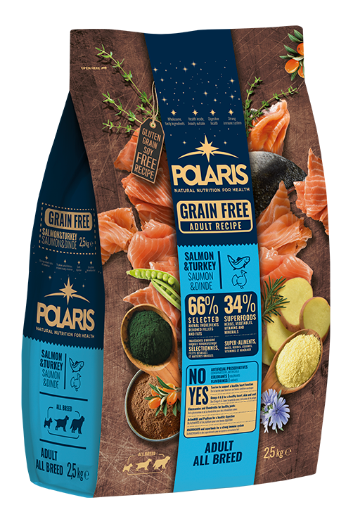 Polaris dog Grain Free Adult All Breed Salmon & Turkey 12 kg