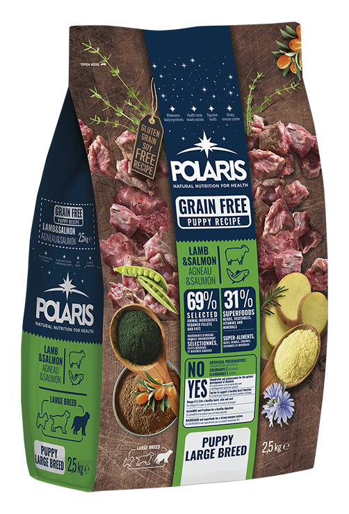 Polaris dog Grain Free Puppy Large Breed  Lamb & Salmon 12 kg
