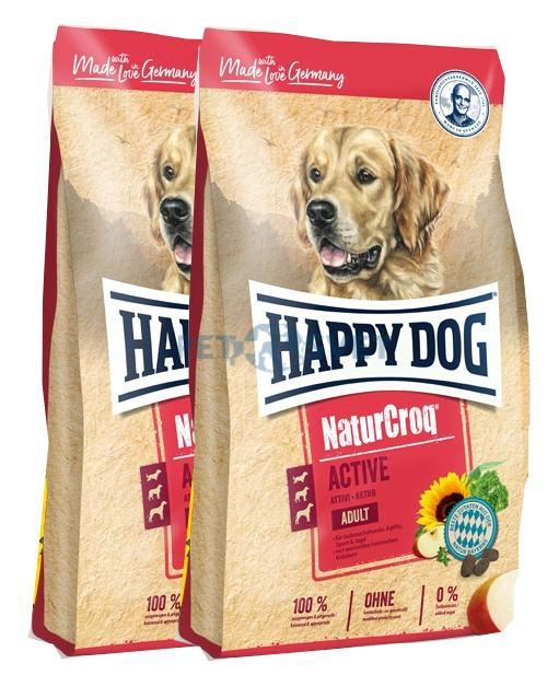 2x Happy Dog NaturCroq Active 15 Kg + DOPRAVA ZDARMA