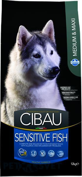 CIBAU dog adult sensitive fish medium & maxi 12 kg + DOPRAVA ZDARMA
