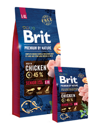 Brit Premium by Nature dog Senior L+ XL 15 kg