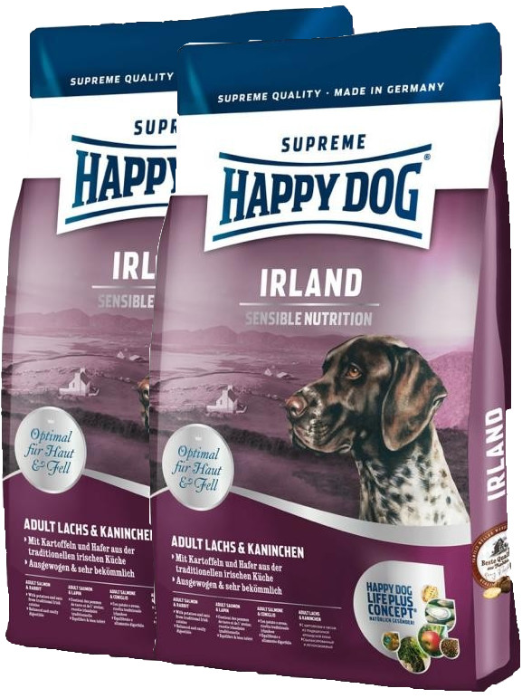 2x Happy Dog Supreme Sensible Irland 12,5 Kg + 4 kg ZDARMA + DOPRAVA ZDARMA
