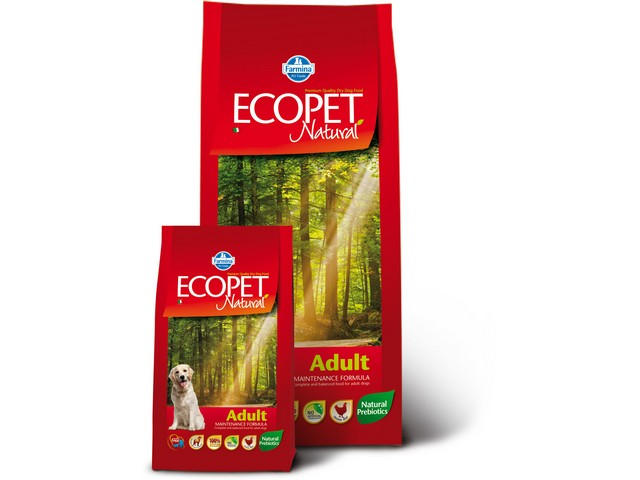 ECOPET N dog adult medium 12 kg + 2 kg ZDARMA