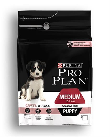 ProPlan Dog Opti Derma Puppy Medium Sensitive Skin 12 kg
