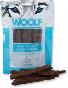 Woolf Dog Salmon & Carrot Strips 100 g