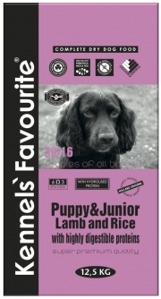Kennel's Favourite puppy junior lamb&rice 12,5 kg
