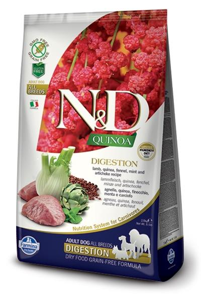 Farmina N&D dog GF QUINOA Digestion Lamb 7 kg + DOPRAVA ZDARMA