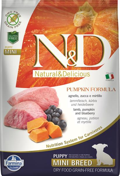 Farmina N&D dog GF PUMPKIN puppy mini lamb&blueberry 2,5 kg