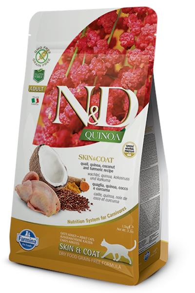 Farmina N&D cat GF QUINOA Skin&Coat Quail 1,5 kg