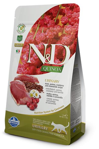 Farmina N&D cat GF QUINOA Urinary Duck 1,5 kg