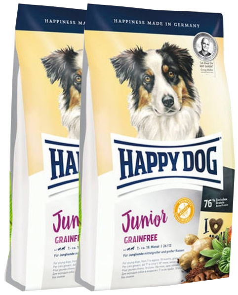 2x Happy Dog Junior Grainfree 10 kg + DOPRAVA ZDARMA
