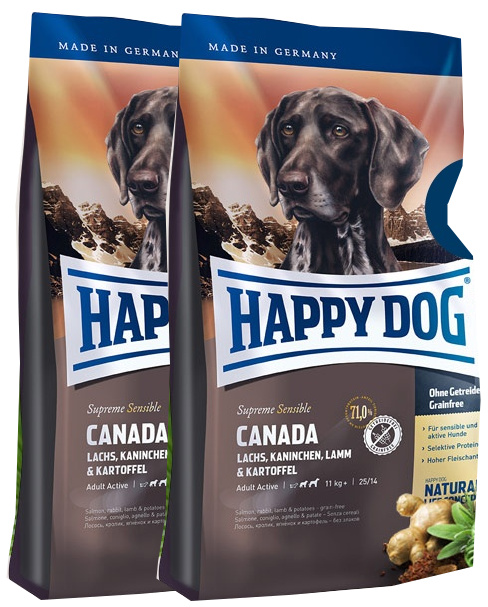2x Happy Dog Supreme Sensible Canada 12,5 Kg + DOPRAVA ZDARMA