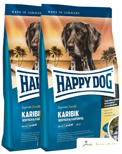 2x Happy Dog Supreme Sensible Karibik 12,5 Kg + DOPRAVA ZDARMA