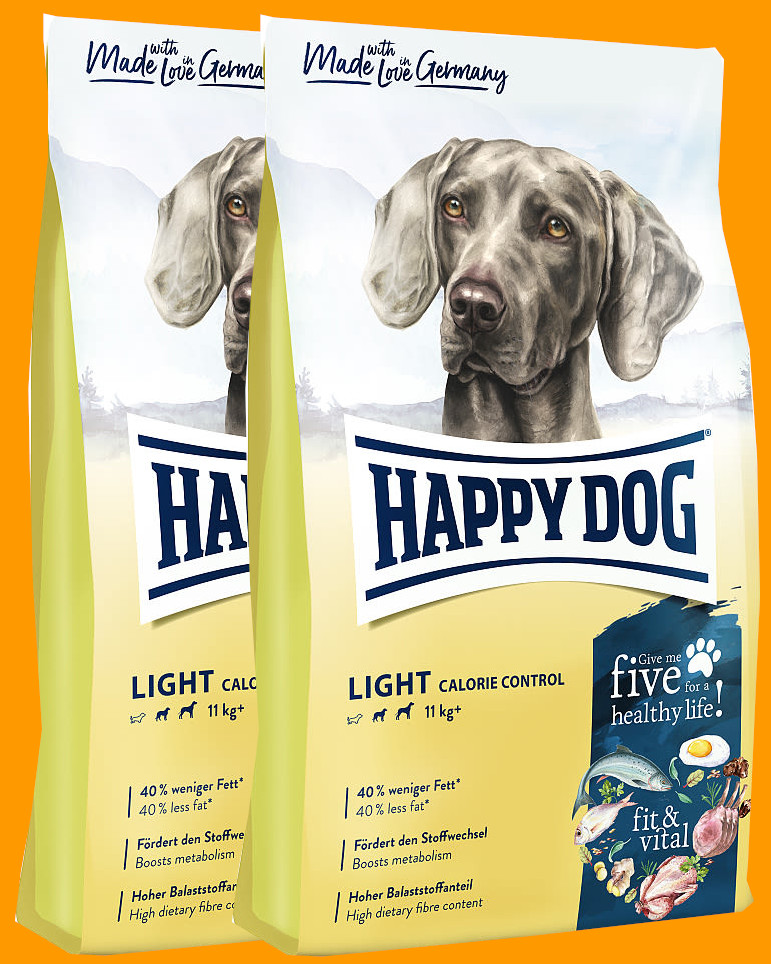 2x Happy Dog Supreme Fit & Vital Light Calorie Control 12 Kg + DOPRAVA ZDARMA