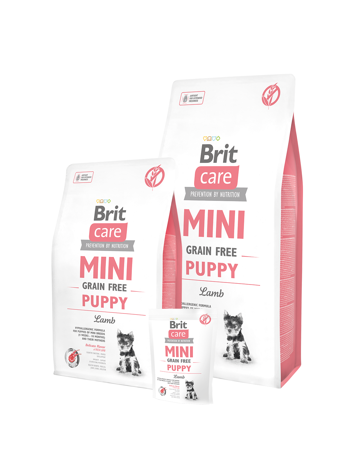 BRIT Care dog MINI Grain free Puppy Lamb 2 kg