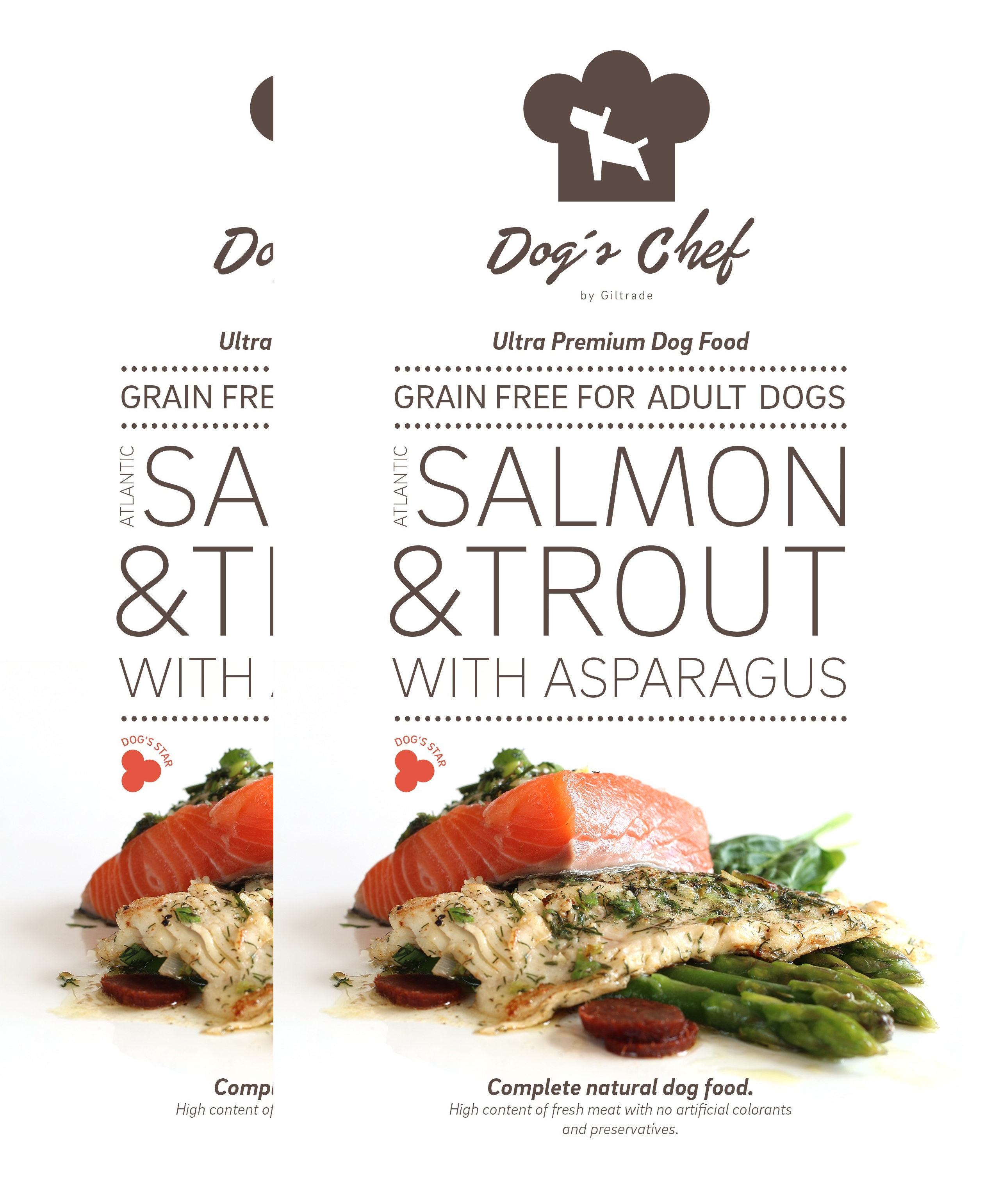 2x DOG'S CHEF Atlantic Salmon & Trout with Asparagus 15 kg + DOPRAVA ZDARMA