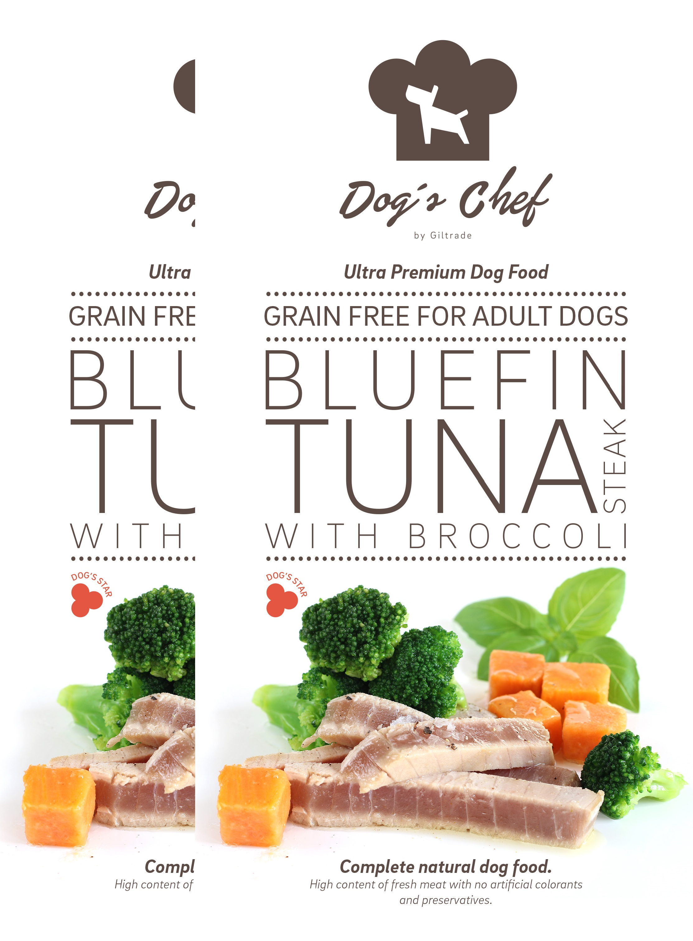 2x DOG'S CHEF Bluefin Tuna steak with Broccoli 15 kg + DOPRAVA ZDARMA