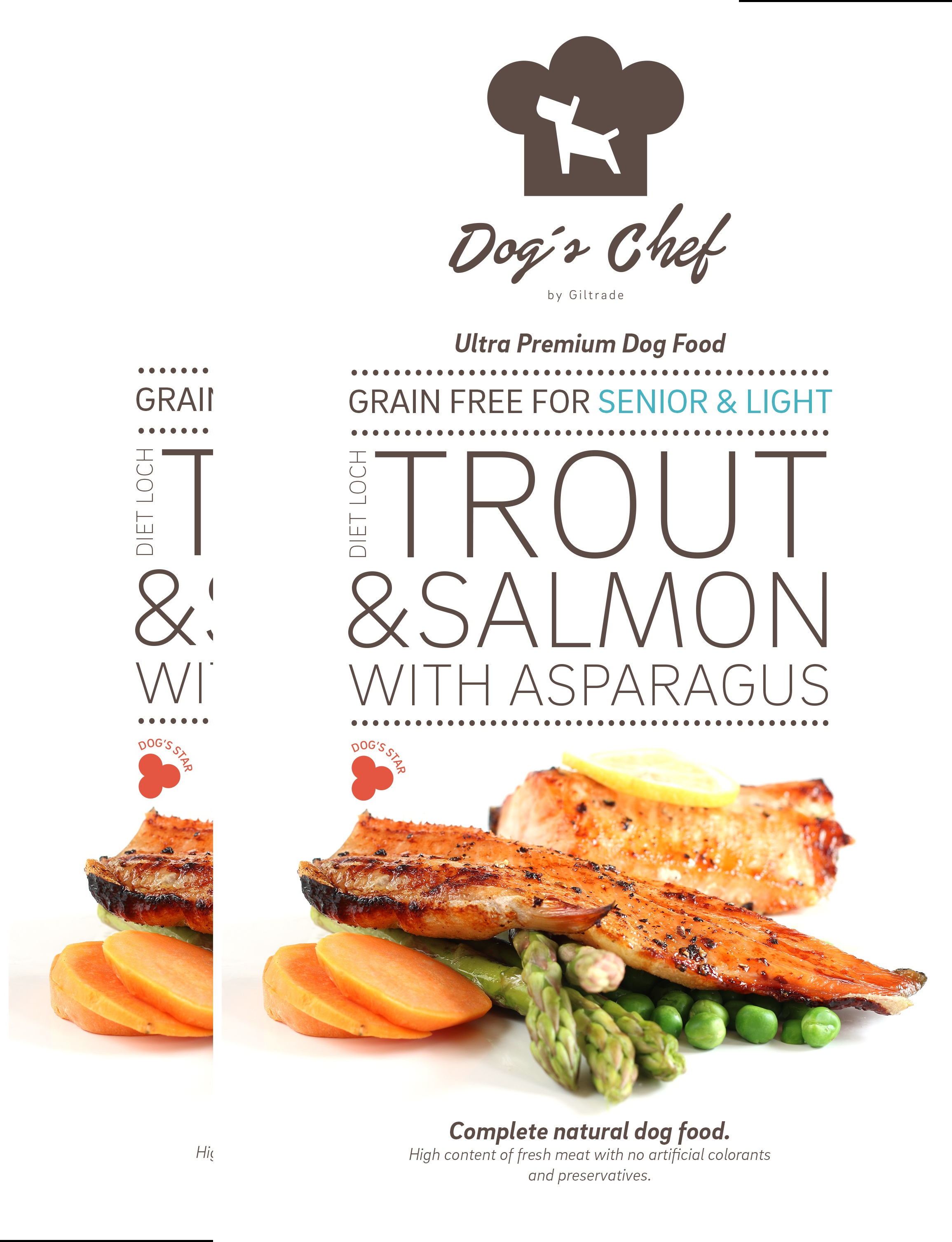2x DOG'S CHEF Diet Loch Trout SENIOR & LIGHT 15 kg + DOPRAVA ZDARMA