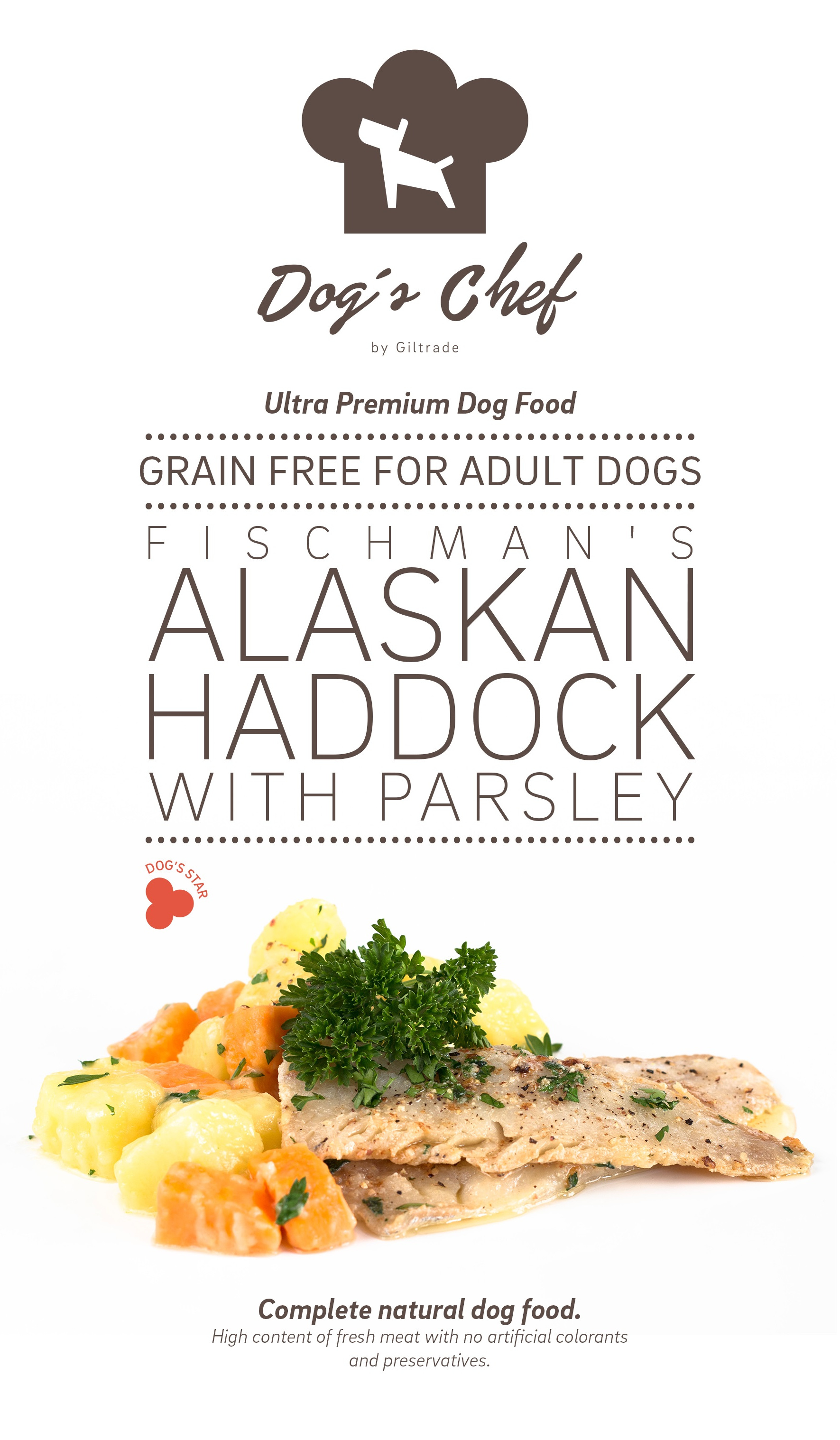 DOG'S CHEF Fischman's Alaskan Haddock with Parsley 15 kg + DOPRAVA ZDARMA