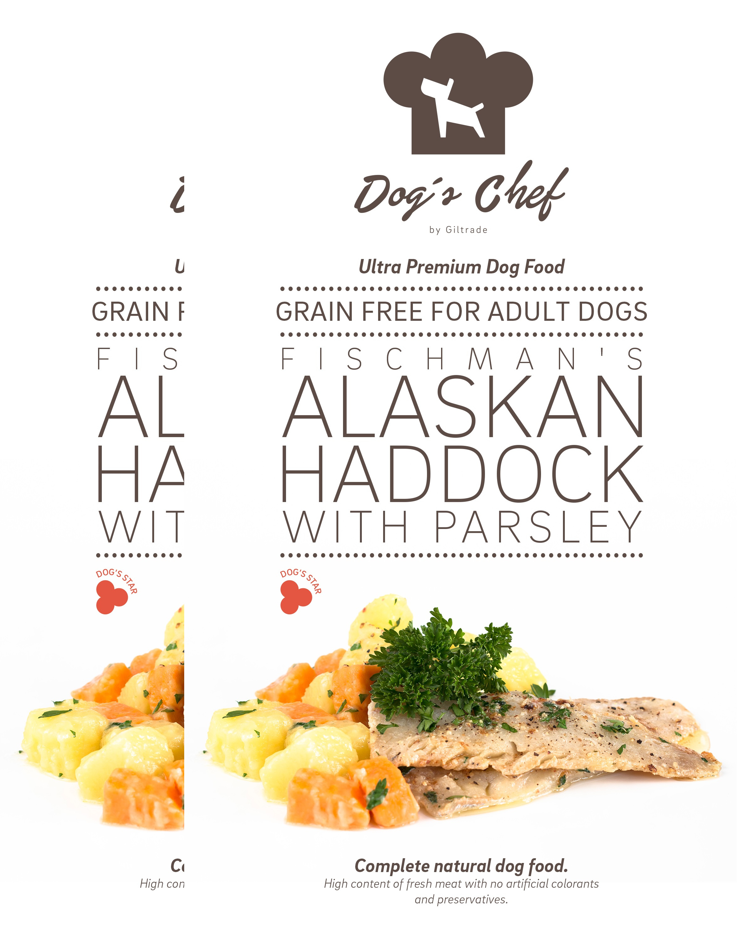 2x DOG'S CHEF Fischman's Alaskan Haddock with Parsley 15 kg + DOPRAVA ZDARMA