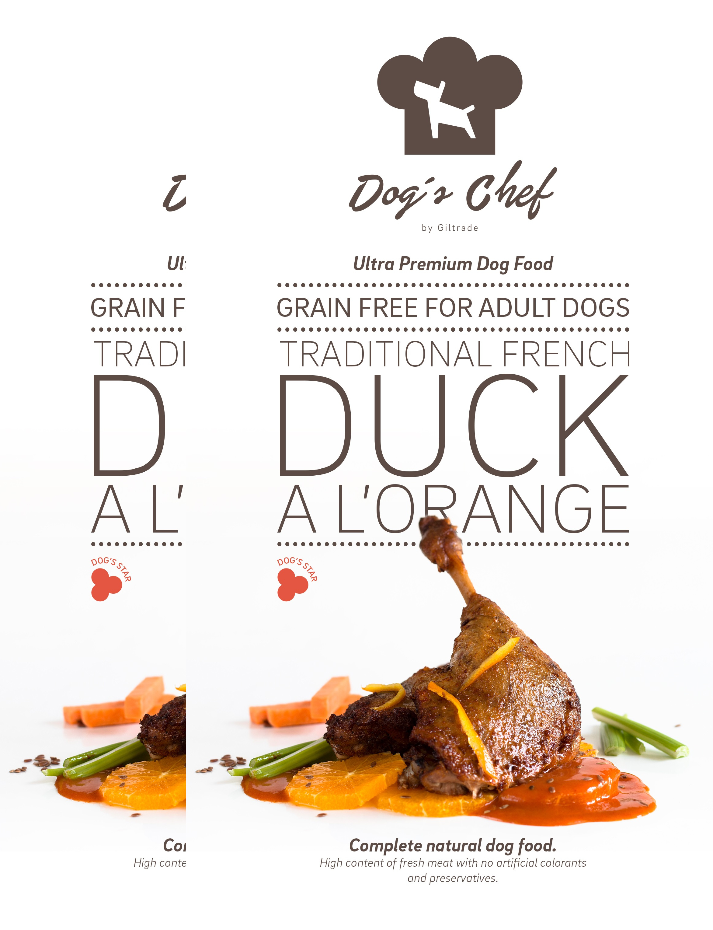 2x DOG'S CHEF Traditional French Duck a l'Orange 15 kg + DOPRAVA ZDARMA