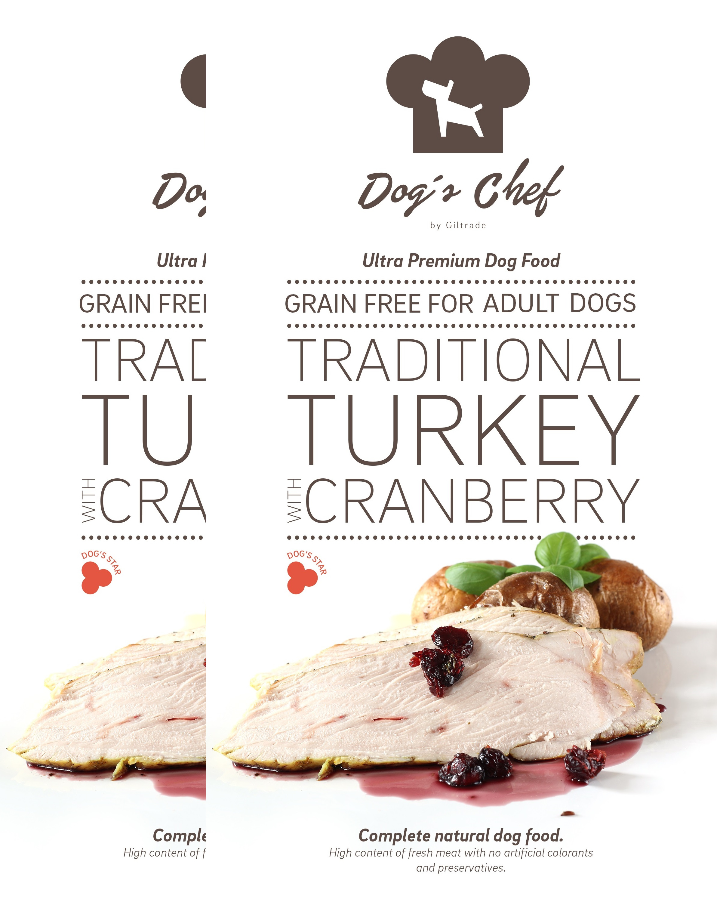 2x DOG'S CHEF Traditional Turkey with Cranberry 15 kg + DOPRAVA ZDARMA