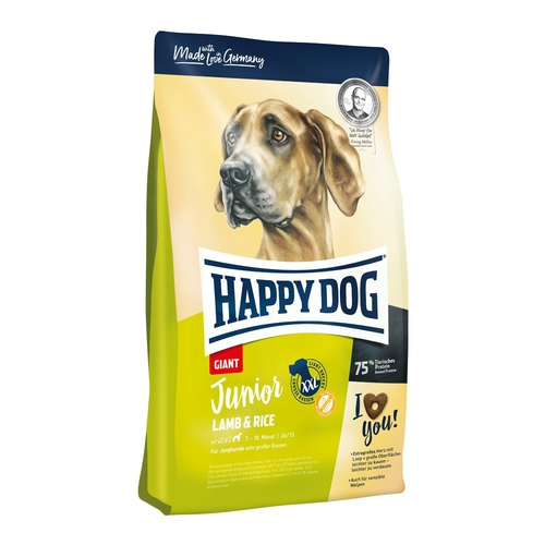Happy Dog Junior Giant Lamb & Rice 15 + DOPRAVA ZDARMA