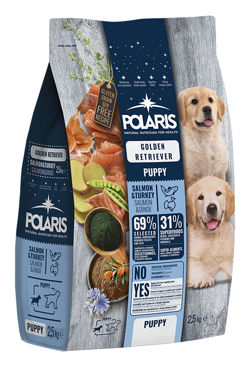 Polaris dog Puppy Golden Retriever Salmon & Turkey 2,5 kg