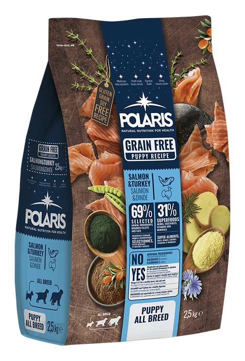 Polaris dog Grain Free Puppy All Breed  Salmon & Turkey 2,5 kg