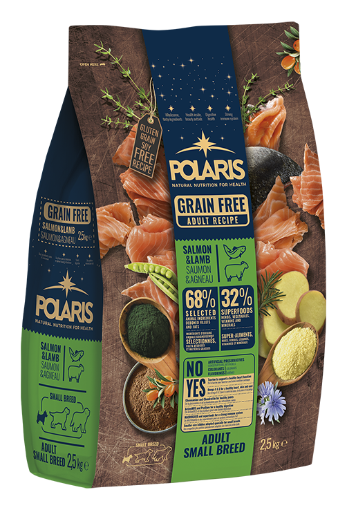Polaris dog Grain Free Adult Small Breed  Salmon & Lamb 2,5 kg