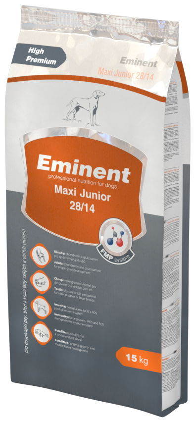 EMINENT dog Maxi Junior 15 kg + 2 Kg ZDARMA