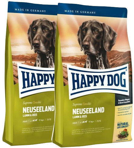 2x Happy Dog supreme Sensible Neuseeland 12,5 Kg + DOPRAVA ZDARMA