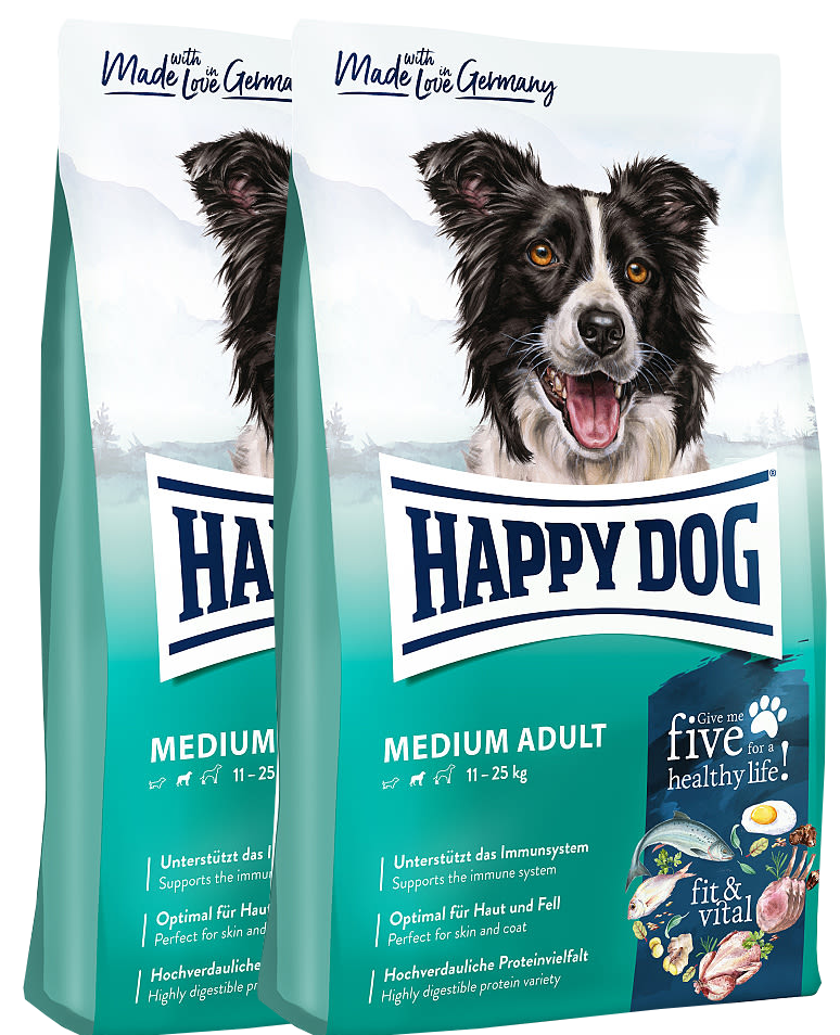2x Happy Dog Supreme Fit & Vital Medium Adult 12 Kg + DOPRAVA ZDARMA