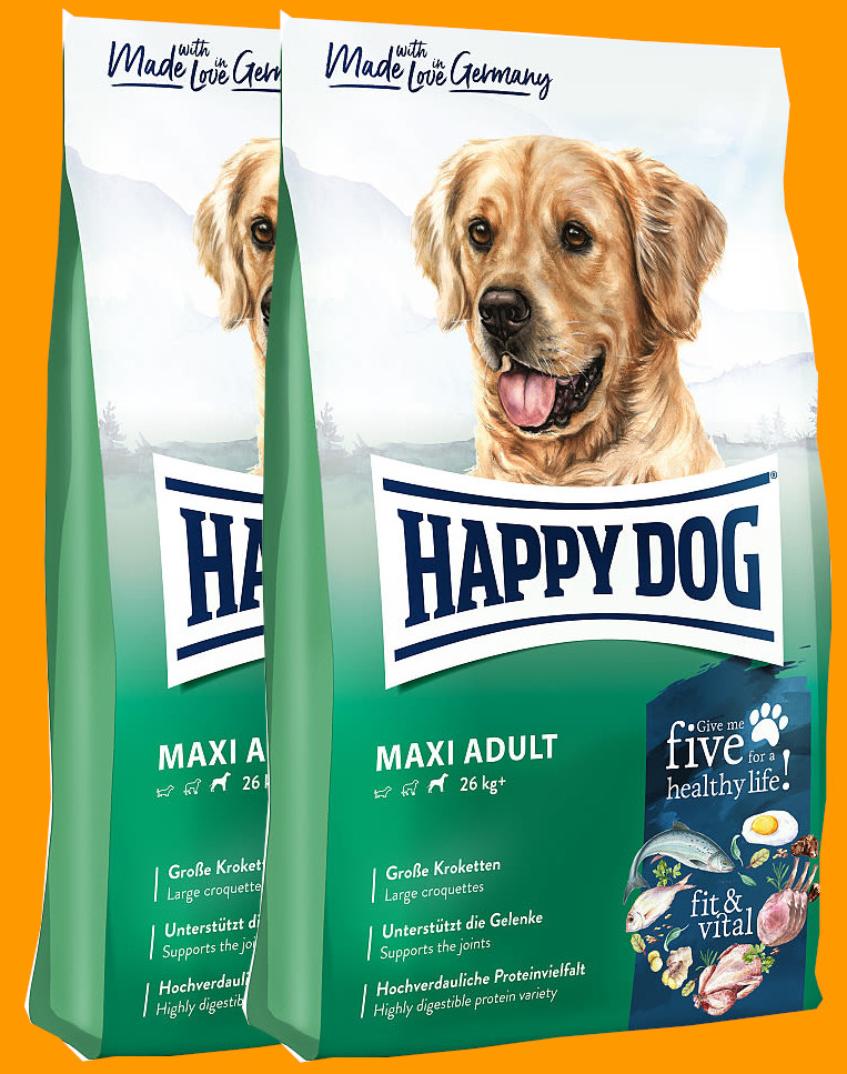 2x Happy Dog Supreme Fit&Vital Adult Maxi 14 Kg + DOPRAVA ZDARMA