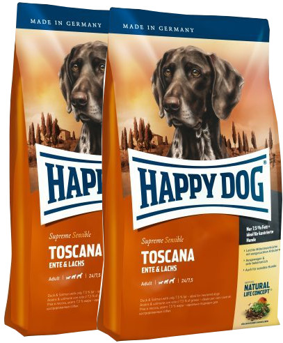 2x Happy Dog Supreme Sensible Toscana 12,5 Kg + DOPRAVA ZDARMA
